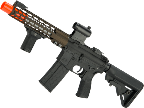 DYTAC SLR Solo Lite SLR15 PDW Airsoft AEG with Linear Compensator (Color: Dark Bronze Cerakote)