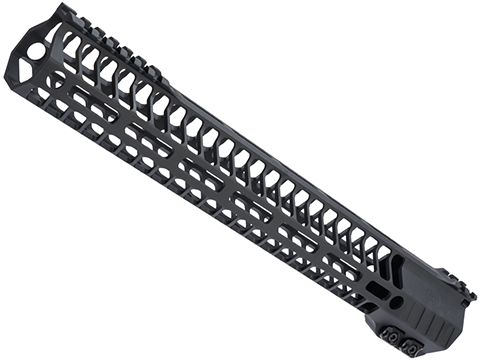 Dytac SLR Helix Ultra Lite M-LOK Handguard for M4/M16 Series Airsoft AEGs (Color: Black Cerakote / 13.7)