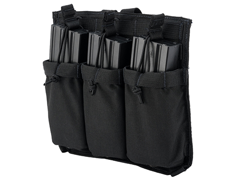 Eagle Industries Removable Front Flap Modular Panel w/ Triple M4 Magazine Pouches (Color: Black)