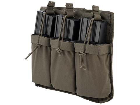 Eagle Industries Removable Front Flap Modular Panel w/ Triple M4 Magazine Pouches (Color: Ranger Green)