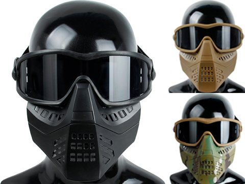 TMC Full Face Mask with Removable ANSI 87.1 Goggles