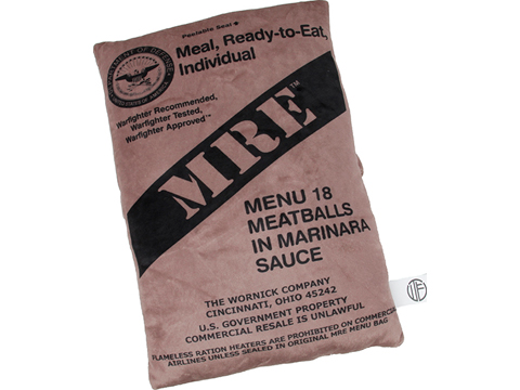 Waterfall Extra Soft Plush MRE Meatball Marinara Pillow