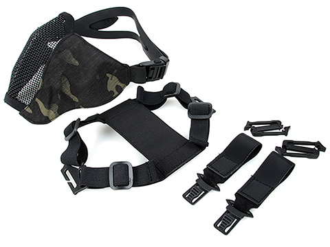 TMC PDW Ver2 Half Face Soft Mask w/ Steel Mesh (Color: Multicam Black)
