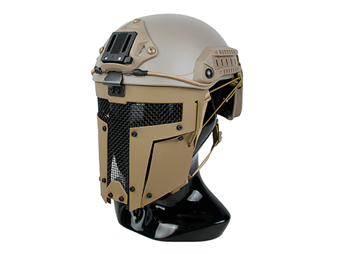 TMC SPT Mesh Face Mask for Bump Helmets (Color: Coyote Brown)
