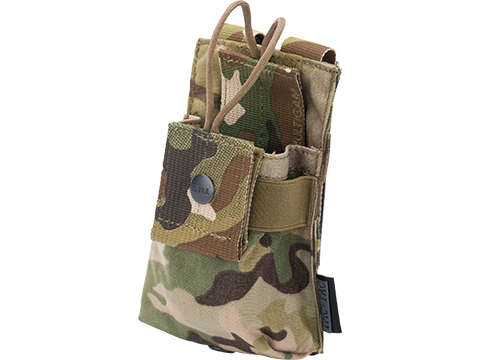 TMC Cordura MOLLE Short Radio Pouch (Color: Multicam)