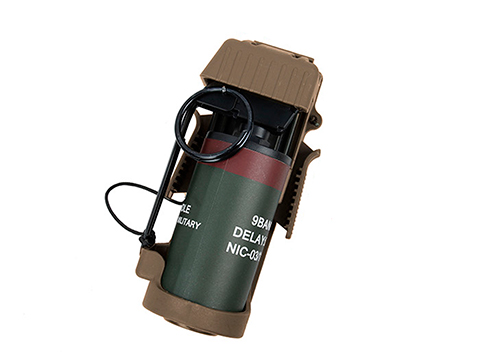 TMC Polymer Flashbang Retention Pouch with Dummy Flashbang (Color: Coyote)