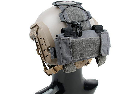TMC MK1 Battery Pouch for Bump Style Helmets (Color: Wolf Grey)