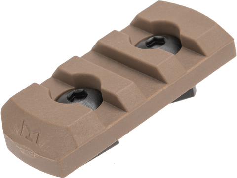 TMC Nylon Fiber Picatinny M-LOK Rail Section (Length: 3 Slot / Coyote Brown)