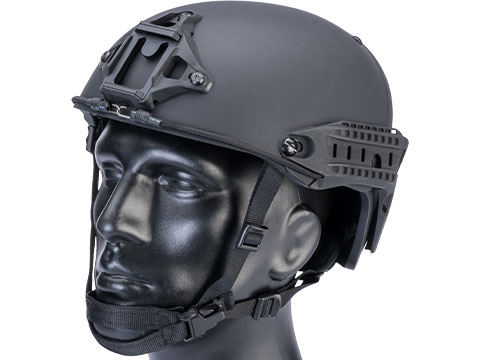 TMC Deluxe Version Air Flow Bump Style Airsoft Helmet (Color: Black / Medium)