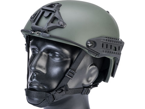 TMC Deluxe Version Air Flow Bump Style Airsoft Helmet (Color: Ranger Green / Large)