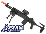 SAGE International Licensed Full Metal Evil Black Rifle M14 EBR Enhanced Airsoft AEG Rifle by 6mmProShop / ASG