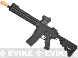 E&C Airsoft Keymod 10 Full Metal Defender M4 Airsoft AEG Rifle - Black