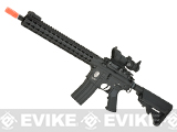 E&C Airsoft Keymod 13 Full Metal Defender M4 Airsoft AEG Rifle - Black