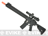 E&C Airsoft Keymod 14.5 Full Metal Defender M4 Airsoft AEG Rifle - Black