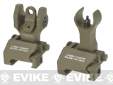 Echo1 Combat Flip-Up Front & Rear Iron Sights Set for Weaver / Picatinny / 20mm rails (Color: Tan)
