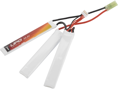 Echo1 11.1V 1100mAh 25C Airsoft LiPo Battery for Airsoft AEGs