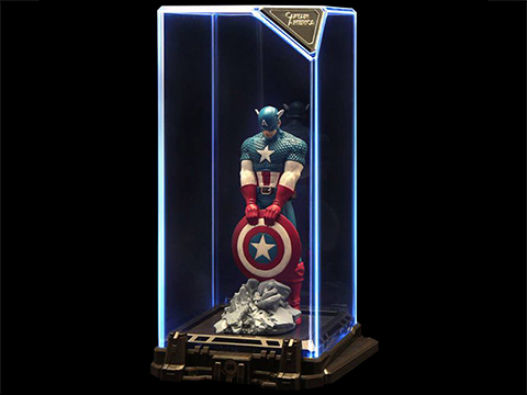Marvel Captain America Super Hero Illuminated Gallery Statue