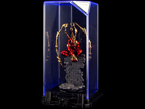Marvel Iron Spider Super Hero Illuminated Gallery Statue