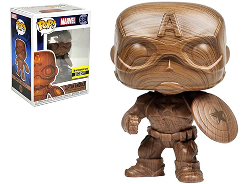 Funko POP! Captain America Wood Deco Pop! Vinyl Figure