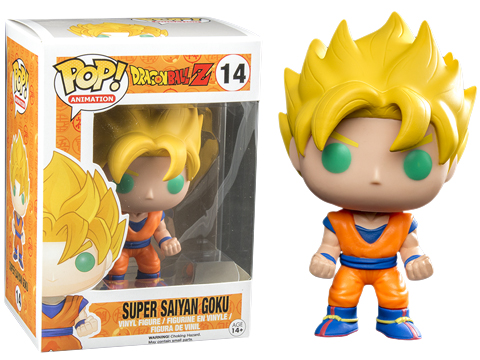 Funko POP! Glow in the Dark Super Saiyan Goku Vinyl Figure EE Exclusive