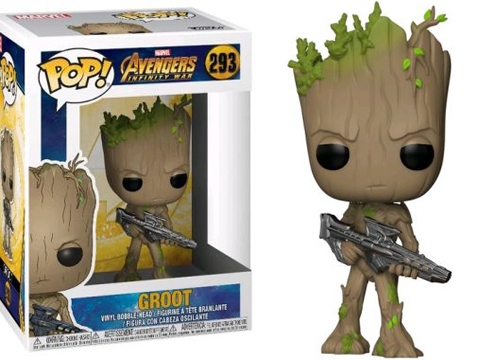 Funko POP! Guardians of the Galaxy - Teen Groot with Gun