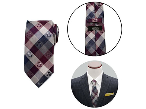 Star Wars Darth Vader Plum Modern Plaid Mens Silk Tie