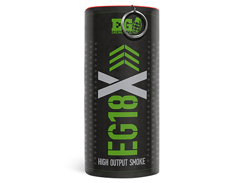 Enola Gaye EG18X Extreme Output Airsoft Wire Pull Large Smoke Grenade (Color: Green)