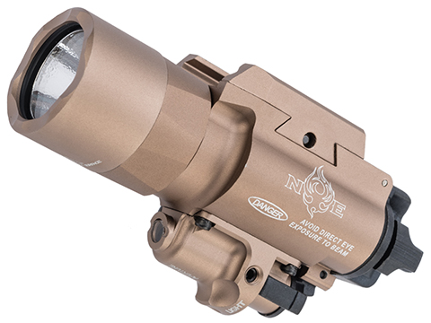 Night Evolution Tactical LED Weapon Light w/ Red Laser (Color: Desert Tan)