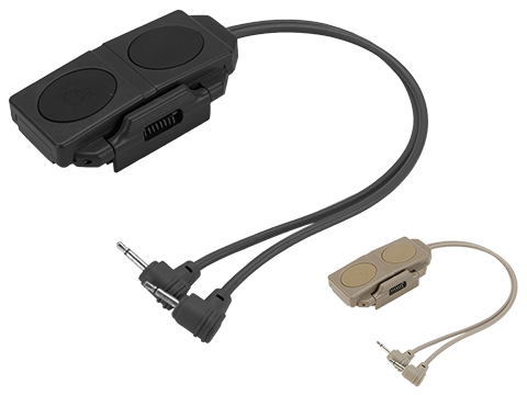 Element Dual Rail Mounted Remote Control for AN/PEQ-16A Laser/Illuminators (Color: Dark Earth)