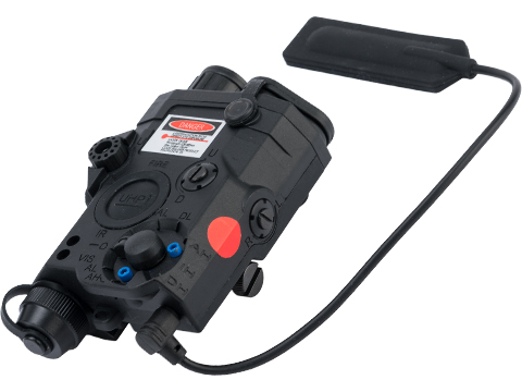 Element Dummy PEQ-15 Illuminator w/ Flashlight, Visible and IR Laser (Color: Black / Red Laser)