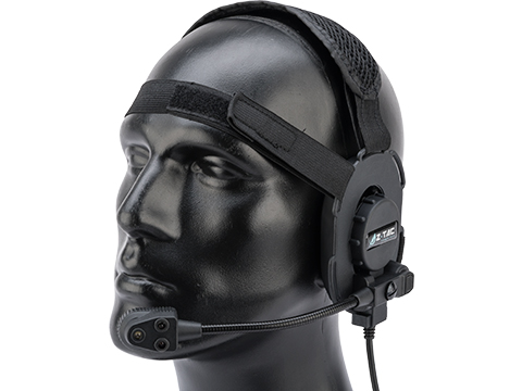 Z-Tactical Z069 Military Style Low Profile Headset w/ Bright Mic (Color: Black)
