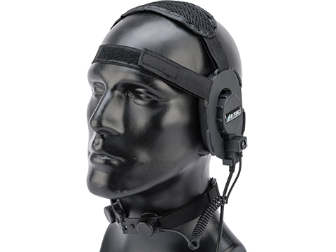 Z-Tactical Z070 Military Style Low Profile Headset w/ Throat Mic (Color: Black)