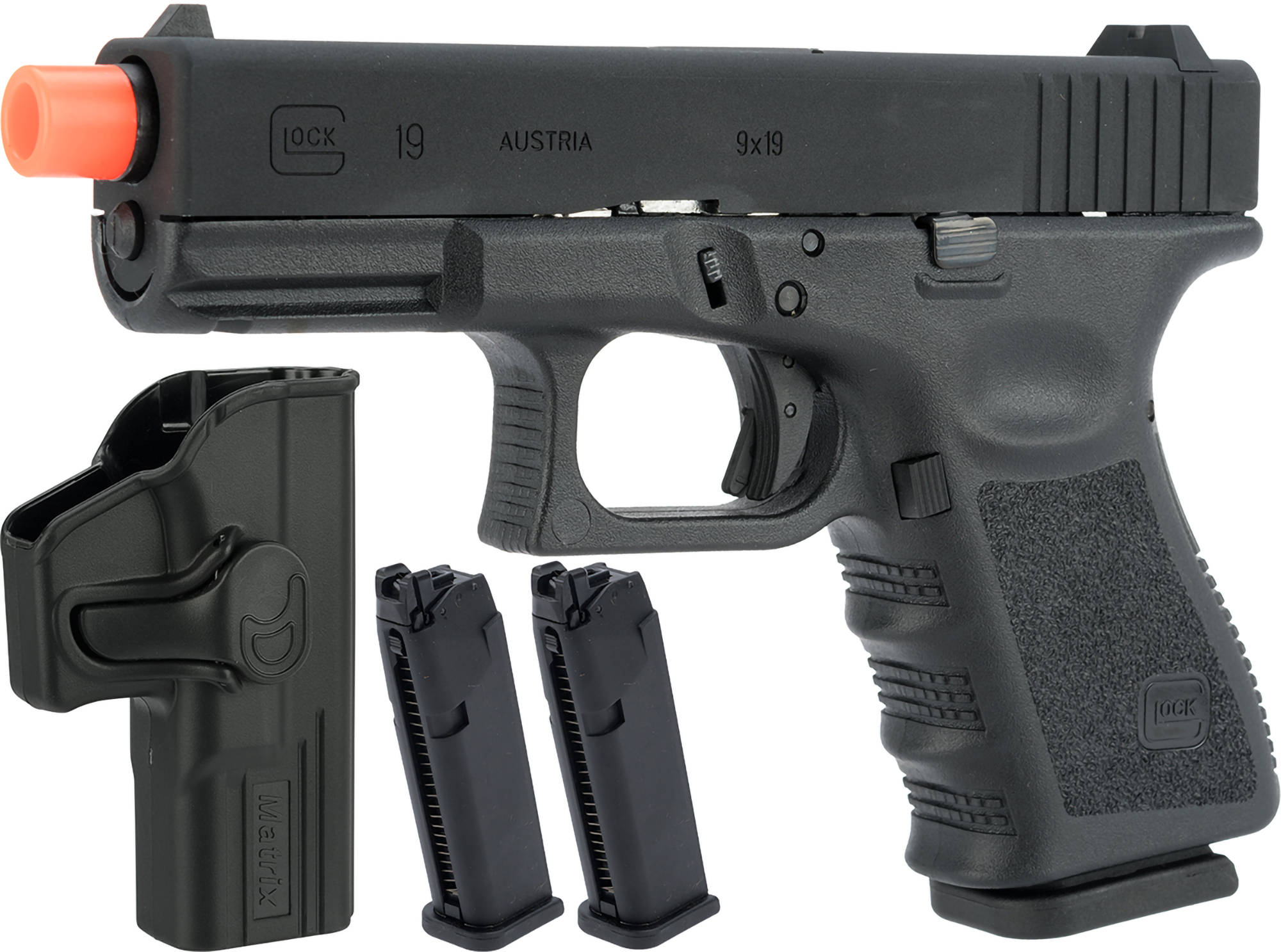Elite Force Fully Licensed GLOCK 19 Gen.3 Gas Blowback Airsoft Pistol (Type: Green Gas)