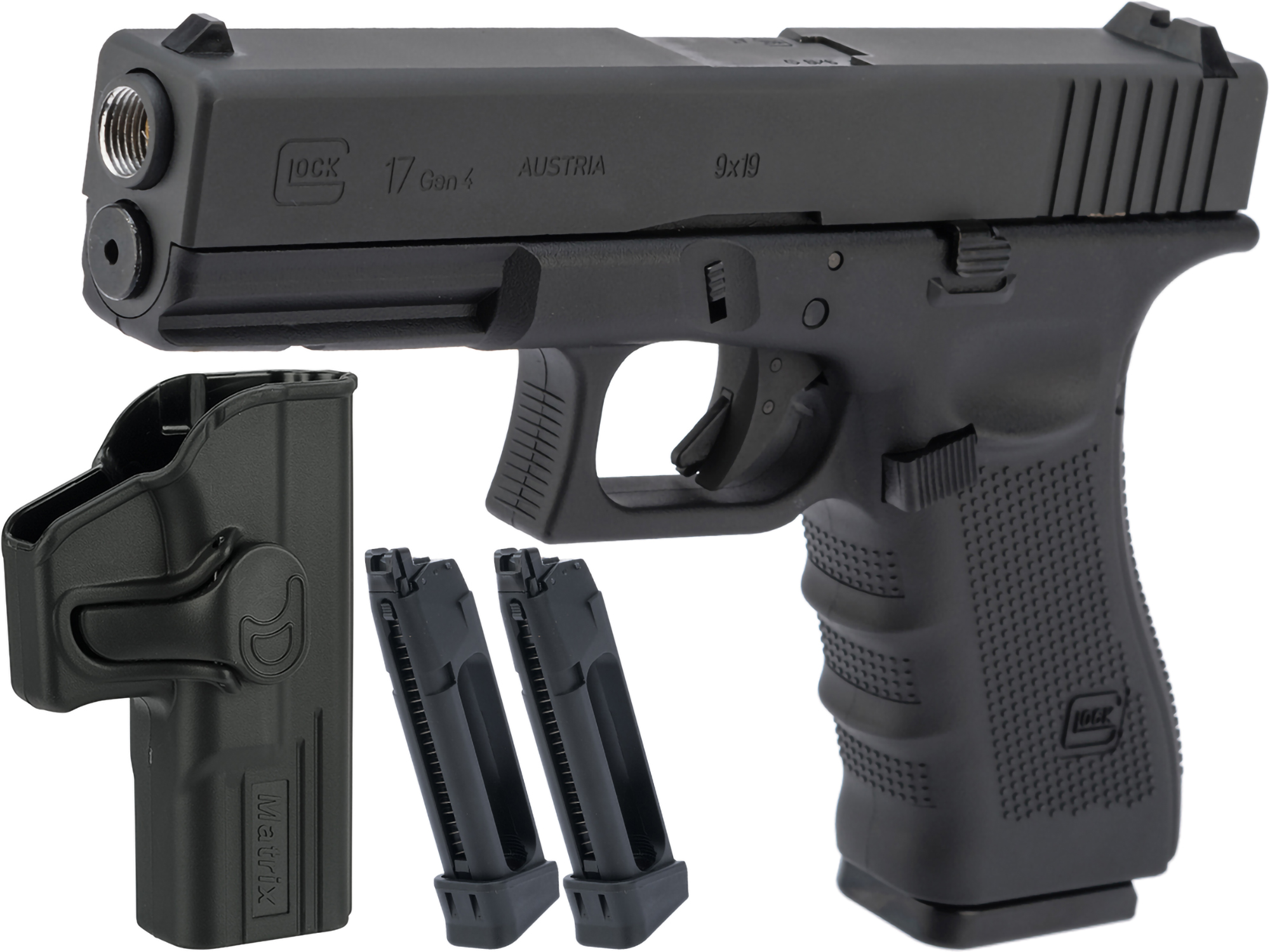 Umarex Fully Licensed GLOCK 17 Gen4 Gas Blowback Airsoft Training Pistol by KWC (Model: CO2)