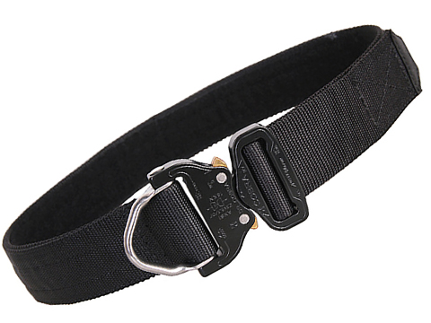 EmersonGear Heavy Duty Riggers Belt with Cobra Buckle (Color: Black / Large / 1.75 / D-Ring)