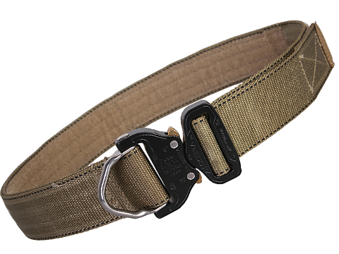 EmersonGear Heavy Duty Riggers Belt with Cobra Buckle (Color: Khaki / Medium / 1.75 / D-Ring)
