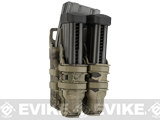 Avengers Fast Hard Shell Magazine Holster - 1x Rifle 2x Pistol Configuration (Color: Desert Serpent)