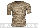 Emerson Skin-tight Base Layer Camo Outdoor Sports Running Shirt - AOR1 (Size: Large)
