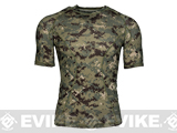 Emerson Skin-tight Base Layer Camo Outdoor Sports Running Shirt - AOR2 (Size: Large)