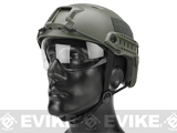 Emerson Bump Type Tactical Airsoft Helmet w/ Flip-down Visor (Type: BJ / Basic / Foliage Green)