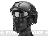 Emerson FAST Type Tactical Airsoft Helmet w/ Flip-down Visor (BJ Type / Basic / Black)
