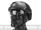 Matrix Basic PJ Type Tactical Airsoft Bump Helmet w/ Flip-down Visor (Color: Black)