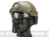 Emerson Bump Type Tactical Airsoft Helmet w/ Flip-down Visor (Type: MICH Ballistic / Basic / Dark Earth)