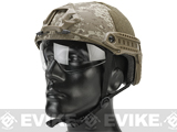 Matrix Basic High Cut Ballistic Type Tactical Airsoft Bump Helmet w/ Flip-down Visor (Color: Digital Desert)