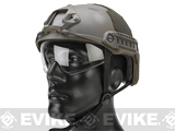 Emerson Bump Type Tactical Airsoft Helmet w/ Flip-down Visor (MICH Ballistic Type / Basic / Navy Seal)