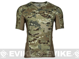 Emerson Skin-tight Base Layer Camo V-Neck Running Shirt - Camo (Size: Large)
