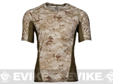 Emerson Skin-tight Base Layer Camo V-Neck Running Shirt - AOR-1