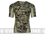 Emerson Skin-tight Base Layer Camo V-Neck Running Shirt - AOR-2