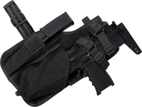 EmersonGear Drop Leg MP7 Holster with Magazine Pouch (Color: Black)