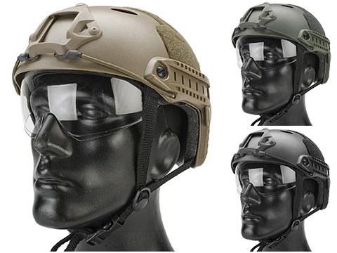 Emerson / Lancer Bump Helmet w/ Flip-down Retractable Visor